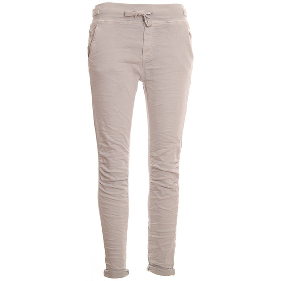 BASIC.de Cotton Stretch-Hose im Jogging-Pant Style MELLY & CO 8139 Hellgrau L