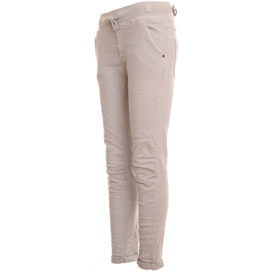 BASIC.de Cotton Stretch-Hose im Jogging-Pant Style MELLY & CO 8139 Hellgrau XL
