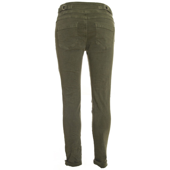 BASIC.de Cotton Stretch-Hose im Jogging-Pant Style MELLY & CO 8139 Khaki S