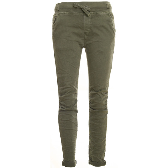 BASIC.de Cotton Stretch-Hose im Jogging-Pant Style MELLY & CO 8139 Khaki M