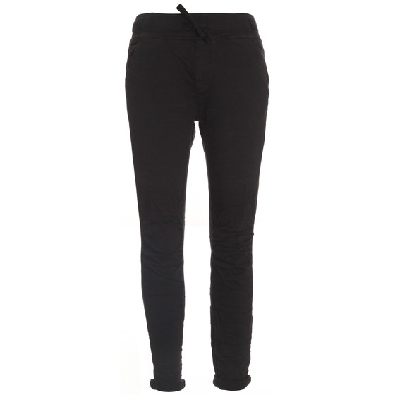 BASIC.de Cotton Stretch-Hose im Jogging-Pant Style MELLY & CO 8139 Schwarz S