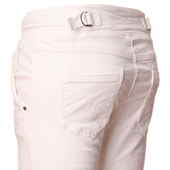 BASIC.de Cotton Stretch-Hose im Jogging-Pant Style MELLY & CO 8139 Weiss XS