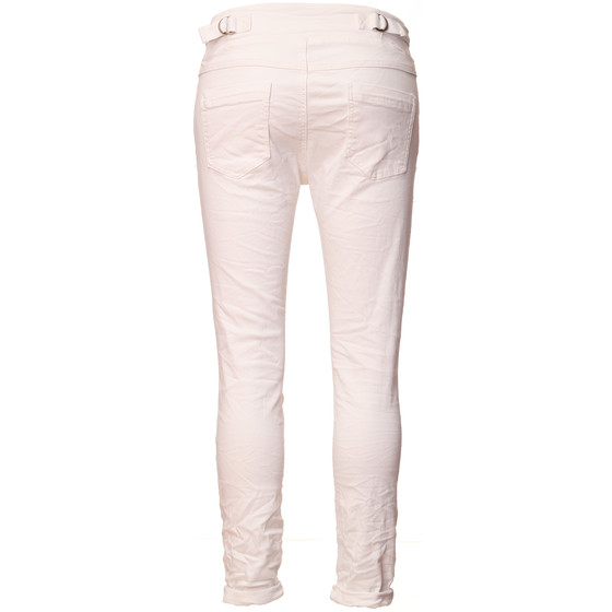BASIC.de Cotton Stretch-Hose im Jogging-Pant Style MELLY & CO 8139 Weiss L
