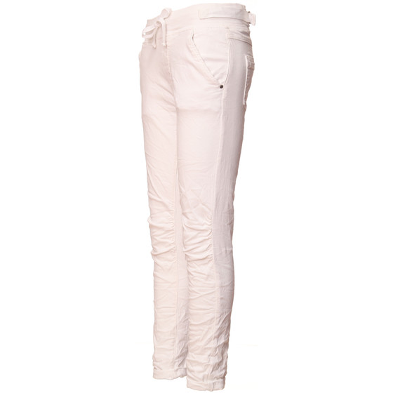 BASIC.de Cotton Stretch-Hose im Jogging-Pant Style MELLY & CO 8139 Weiss XL