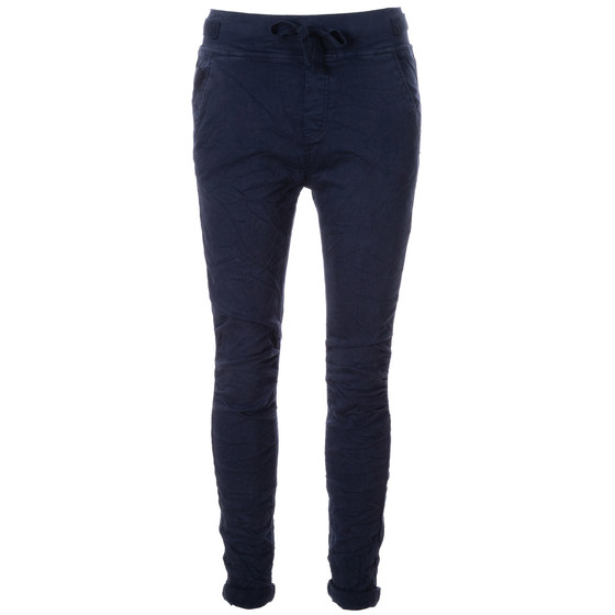 BASIC.de Cotton Stretch-Hose im Jogging-Pant Style MELLY & CO 8139 Dunkelblau S