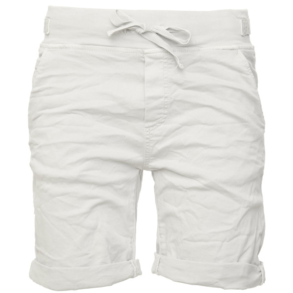 BASIC.de Cotton-Stretch Bermuda-Shorts Weiss S