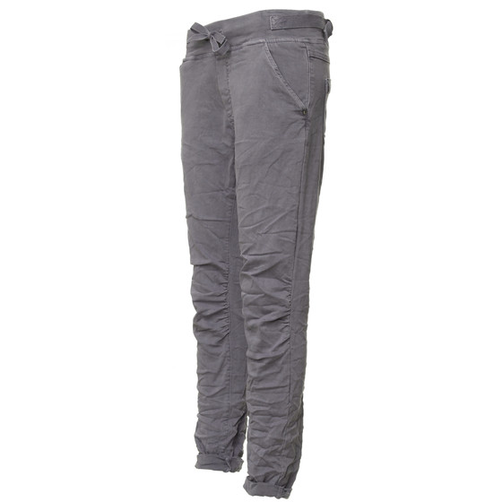 BASIC.de Cotton Stretch-Hose im Jogging-Pant Style MELLY & CO 8139 Anthrazit S