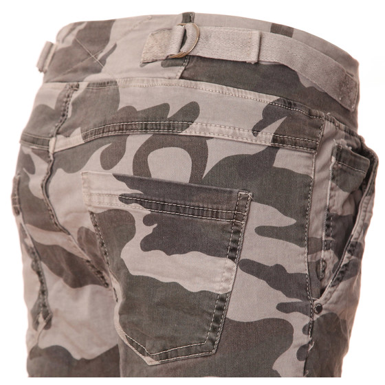 BASIC.de Cotton Stretch-Hose im Jogging-Pant Style MELLY & CO 8139 Camouflage Hellgrau S