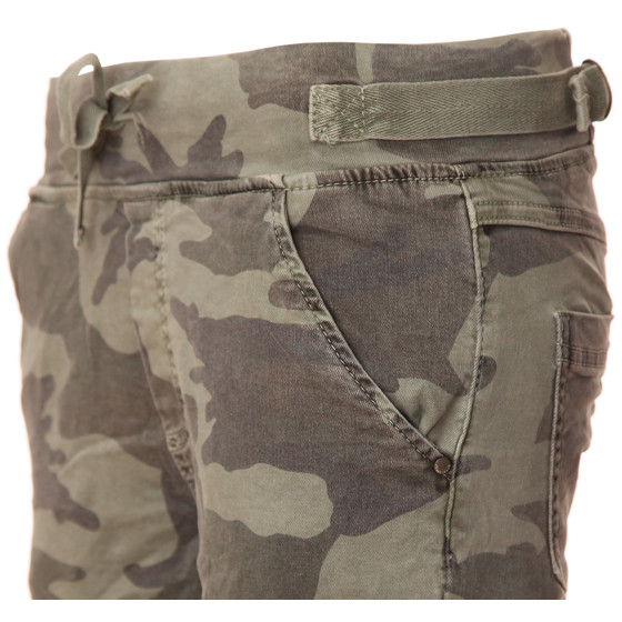 BASIC.de Cotton Stretch-Hose im Jogging-Pant Style MELLY & CO 8139 Camouflage Khaki S