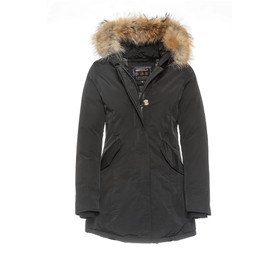 damen parka echtfell winter jacke beige l 129 99. Black Bedroom Furniture Sets. Home Design Ideas