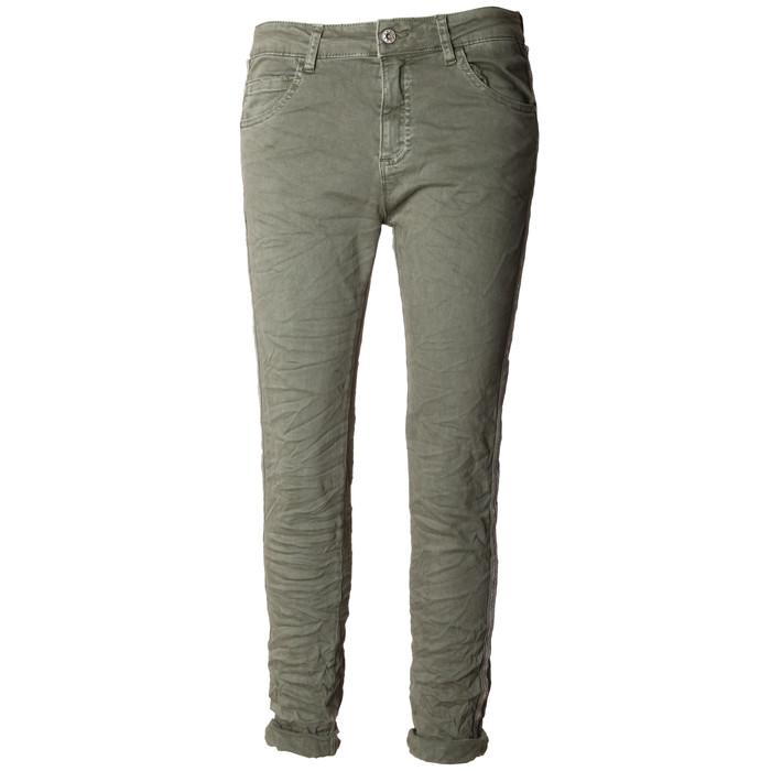 Damen Hose Skinny mit Kontraststreifen aus Metall Perlen MELLY & CO 8166