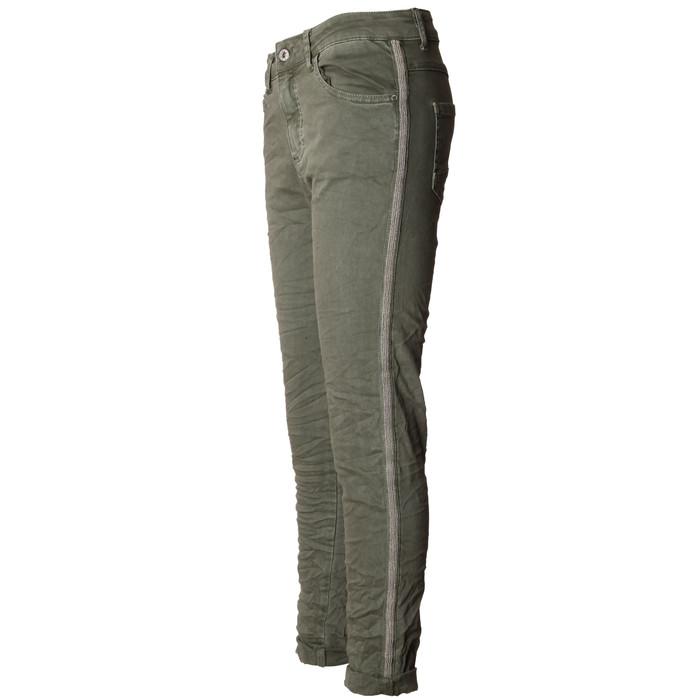 cbdfc4e754f9a8 ... BASIC.de Damen-Hose Skinny mit Kontraststreifen aus Metall-Perlen MELLY    CO ...
