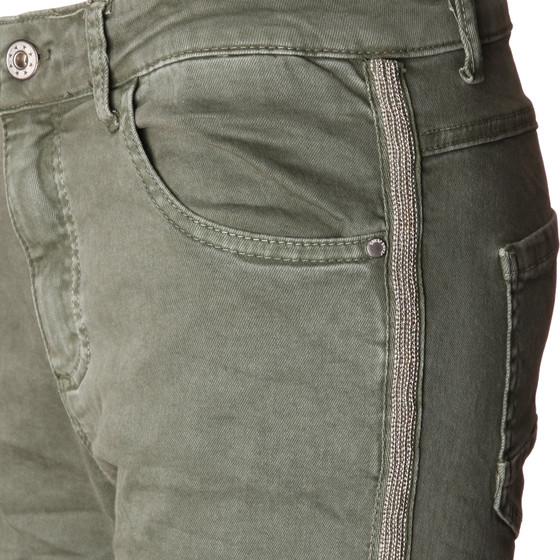 Damen Hose Skinny mit Kontraststreifen aus Metall