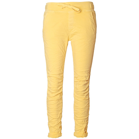 BASIC.de Cotton Stretch-Hose im Jogging-Pant Style MELLY & CO 8139 Gelb XS