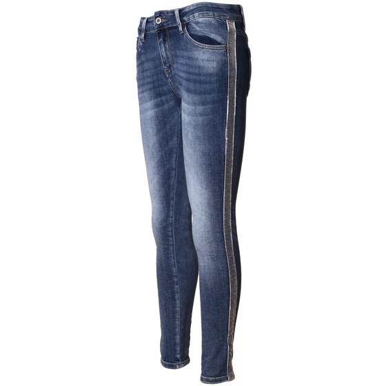 damen jeans mit seitlichem kontraststreifen melly. Black Bedroom Furniture Sets. Home Design Ideas
