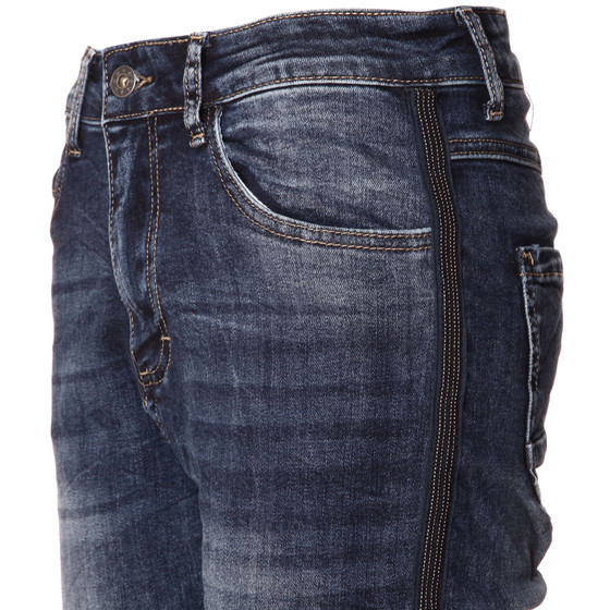 BASIC.de Damen Jeans mit Metallperlen MELLY CO 7088 XS