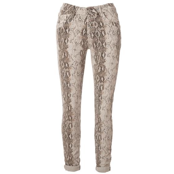 b192b8bd294008 BASIC.de Damen-Hose Skinny mit Kontraststreifen aus Metall-Perlen ...