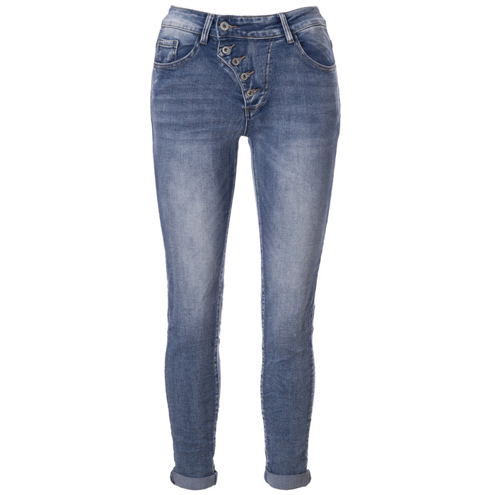 31fc3222168185 BASIC.de Damen-Jeans Skinny mit schräger 5-Knopfleiste MELLY & CO 7128 ...