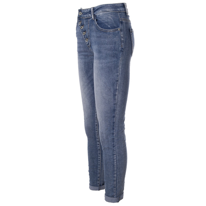 f6ac138470d530 ... BASIC.de Damen-Jeans Skinny mit schräger 5-Knopfleiste MELLY & CO 7128  ...