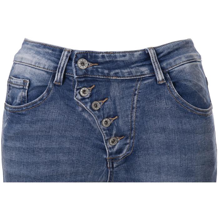 09b6bee63ba8fb ... BASIC.de Damen-Jeans Skinny mit schräger 5-Knopfleiste MELLY & CO 7128